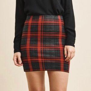 Plaid dynamite pencil skirt